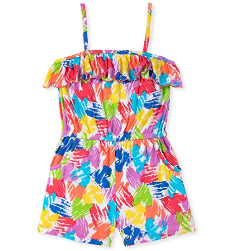 Juicy Couture Girls' Big Romper, Green/Yellow/Blue Print 12 ()