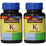 Nature Made Vitamin K2 Softgel, 100 mcg - 2 bottles each of 30 Softgels