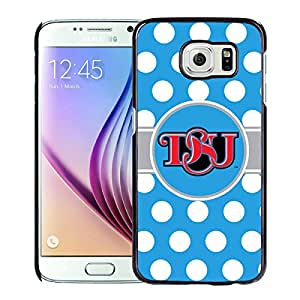 NCAA Delaware State Hornets 4 Black Samsung Galaxy S6 Protective Phone Cover Case