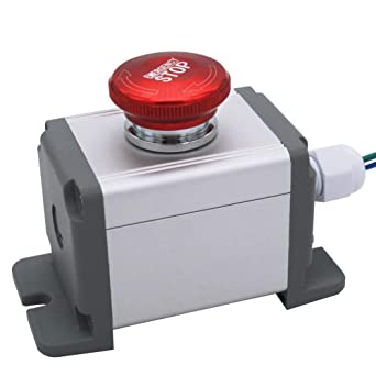 mxuteuk 22mm Stainless Steel Metal Latching Emergency Stop Push Button Switch Waterproof IP65 12-220V 3A 1NO 1NC Switch Station Box with Connection Plug, 1 Year Warranty MXU-DT-JH