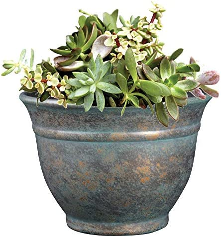 """Classic Home and Garden 10509D-377R 9"""" Alena Planter, 9"""", Weathered Copper"""