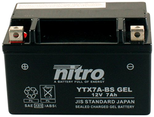 Accu Nitro 12V-6A YTX7A-BS Gel (China 4T scooter)