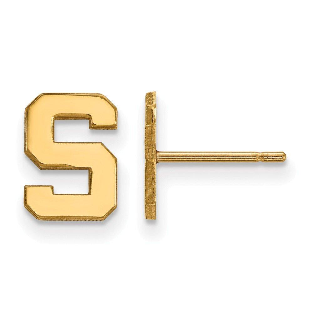 ミシガン州状態Extra Small (3 / 8インチ) ポストイヤリング(14 Kイエローゴールド)   B01IYEUV2U