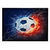Luckey1 Soccer Fire tapestry, Football Fans Home decoration tapestry 80in x 60in (Soccer Fire)
