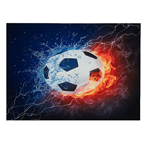 Luckey1 Soccer Fire tapestry, Football Fans Home decoration tapestry 80in x 60in (Soccer (Soccer Window)