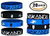 20 pcs Wakanda Party Favors Wristband/Size Adult and Kids. (Black Panther, Kids)