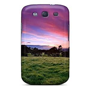 PWVKZke2420eHhjI Anti-scratch Case Cover Mjdavis Protective Beautiful Morning Green Case For Galaxy S3