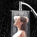 #6: YJYdada High Turbo Pressure Shower Head Bathroom Hand Large Rainfall Water Saving Filter (Silver)