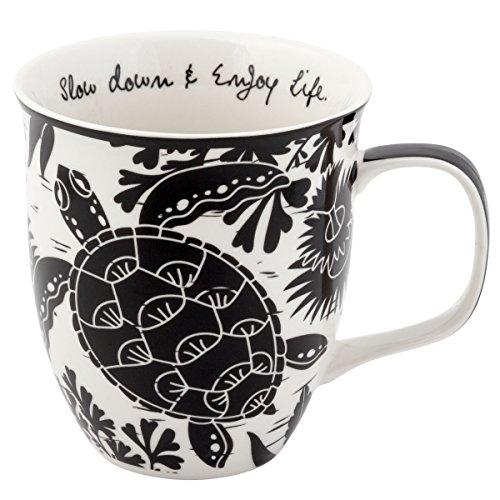 Karma Gifts Boho Black And White Mug, Sea -