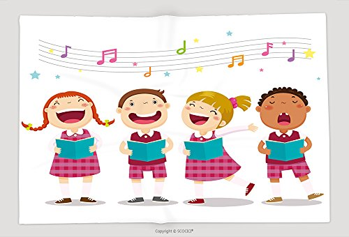 Supersoft Fleece Throw Blanket Vector Illustration Of Choir Girls And Boys Singing A Song (Halloween Song Hyde)