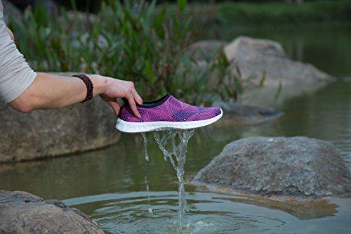 AVADAR Wasser Schuhe, Männer Frauen Wasser Schuhe Barfuß Quick Dry Aqua Schuhe für Schwimmen Walking Yoga See Beach Garden Park Fahren Bootfahren. rot