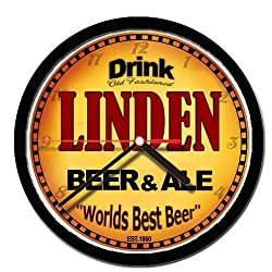 LINDEN beer and ale cerveza wall clock