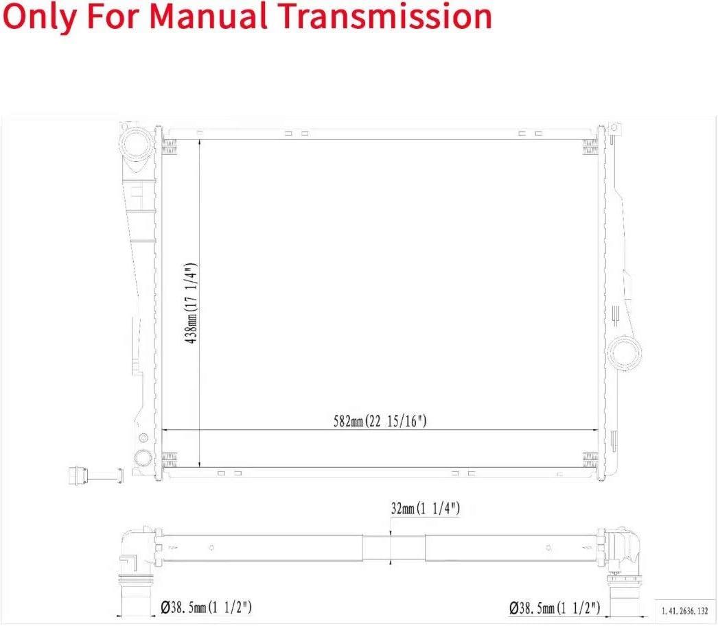 YY HEAITH Manual Al//Plastic Radiator For BMW 320 323 325 328 330 Z4 2.5L 2.8L 3.0L 3.2L