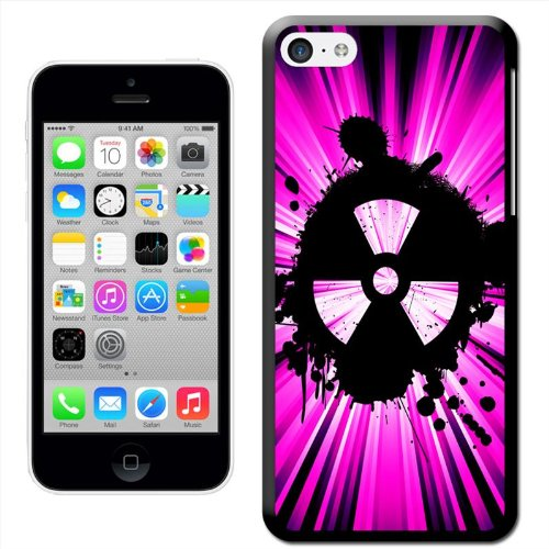 Fancy A Snuggle 'Grunge Nuke Pink Schwarz' Hard Case Clip On Back Cover für Apple iPhone 5 C