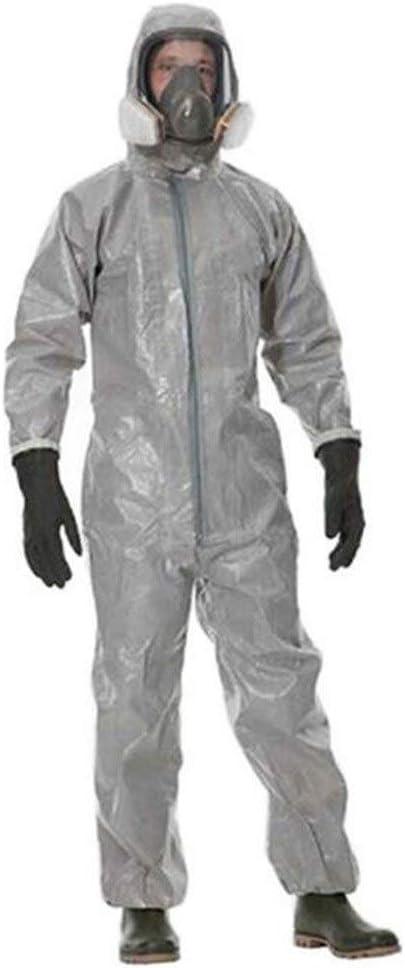 KLGU Ropa de Trabajo de protección General contra el Polvo, pesticidas, Antipolvo, líquido, Resistente al ácido (Tipo 3/4/5/6) (Size : XXL)
