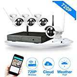 JOOAN TC-734 720P Cameras 4CH WIFI NVR Wireless Security CCTV Surveillance Systems Plug and Play Indoor/Outdoor