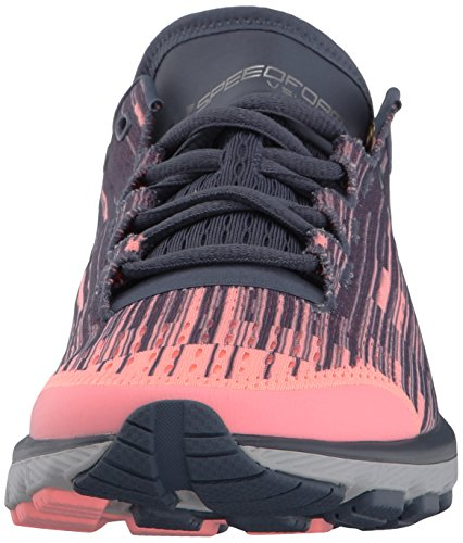 Under Armour Frauen Speedform Velociti Grafik Pink Sands / Apollo Grau / Metallic Silber