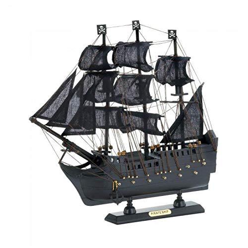 Zings & Thingz 57074260 Pirate Model Ship Black