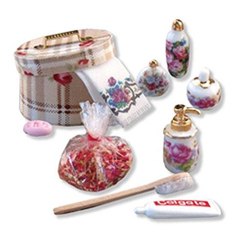(Reutter Porcelain Dollhouse Miniature Fancy Boudoir Set w/Potpourri by)