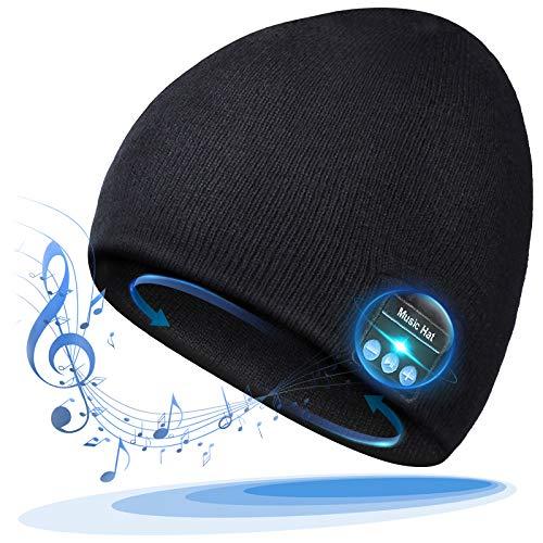 Bluetooth Beanie, Mens Gift, Bluetooth Hat Wireless, Gift for Men Women, Bluetooth Headphones Hat, Outdoor Sports…