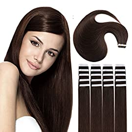 12″ Tape Extensions Human Hair Remy Tape in Hair Extensions Pack of 20pcs