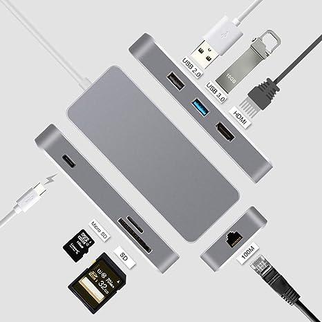 USB-C a Tarjeta HDMI Carga rápida Ethernet USB Tipo C Tipo C ...
