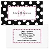 Leeza Initial Double-Sided Business Cards - Set of 250 2'' x 3-1/2 custom business card design; 80# Cover Stock, Opaque, Matte