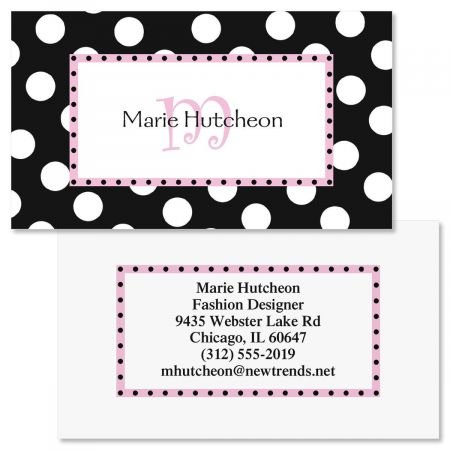 Leeza Initial Double-Sided Business Cards - Set of 250 2