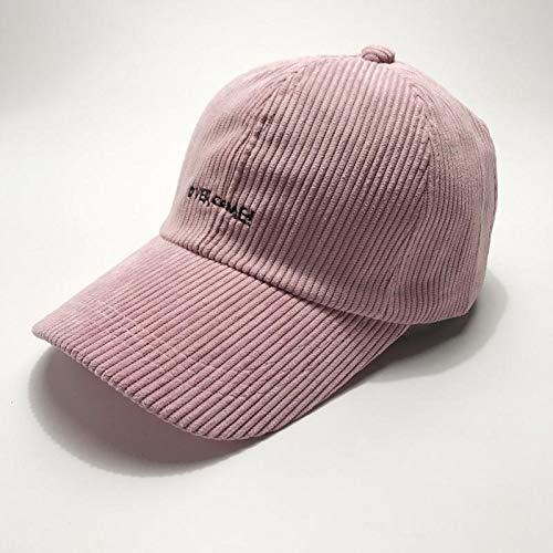 Unique hat Cap Women Girls Spring Summer Fashion Letter Base Embroidered Corduroy Cap Tide Leisure Men Man ()