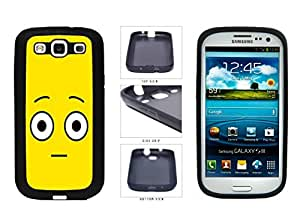 Bright Yellow Shocked Smiley Face SILICONE Phone Case Back Cover Samsung Galaxy S3 I9300