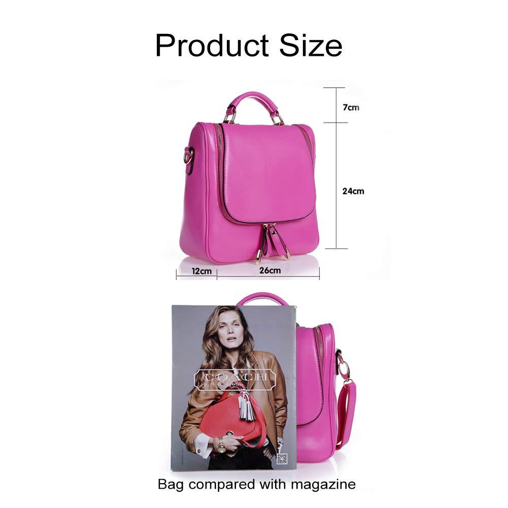 Yoome Lederrucksack College Wind Wind Wind Schoolbag für Mädchen einfarbig Travel Daypack a2cd25
