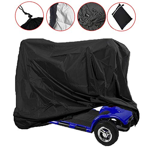 Mobility Scooter Storage Cover, Wheelchair Waterproof Storage Cover Lightweight Rain Protector from Dust Dirt Snow Rain Sun Rays - 55 x 26 x 36 inch (L x W x H) ()