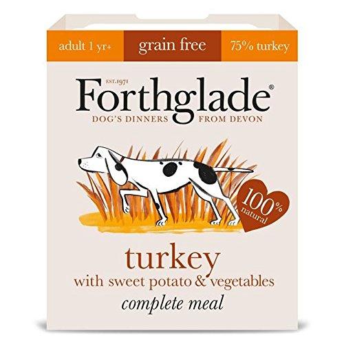 Forthglade Complete Adult Turkey, Sweet Potato & Veg GRAIN FREE 7 x 395g (PACK OF 4)