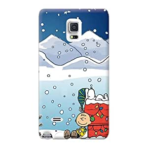 Shockproof Hard Cell-phone Case For Samsung Galaxy Note 4 With Custom Realistic Snoopy Xmas Series AshtonWells