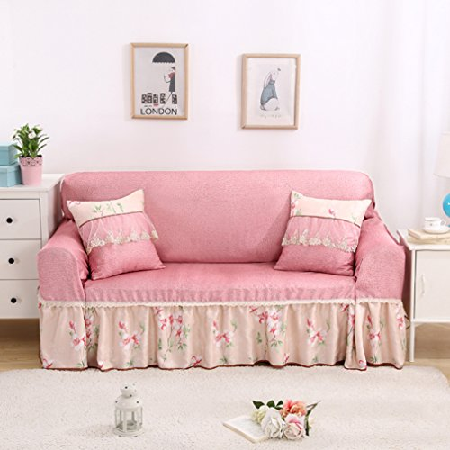 Vercart Full Coverage Seater Couch Sofa Slipcover Throw Covers Furniture Protector for Sofa Pink 85x118 Inches (Where To Buy Chairs Wingback)