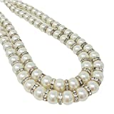 Pearl Diamante Tie Back Pairs, Beaded Curtain Tie Backs, Sparkle Bling Beads Voile Hold Backs, Sold as a Pair, Ivory, Gold