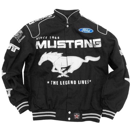 Genuine Ford Men's Mustang Racing Twill Jacket - Size Large