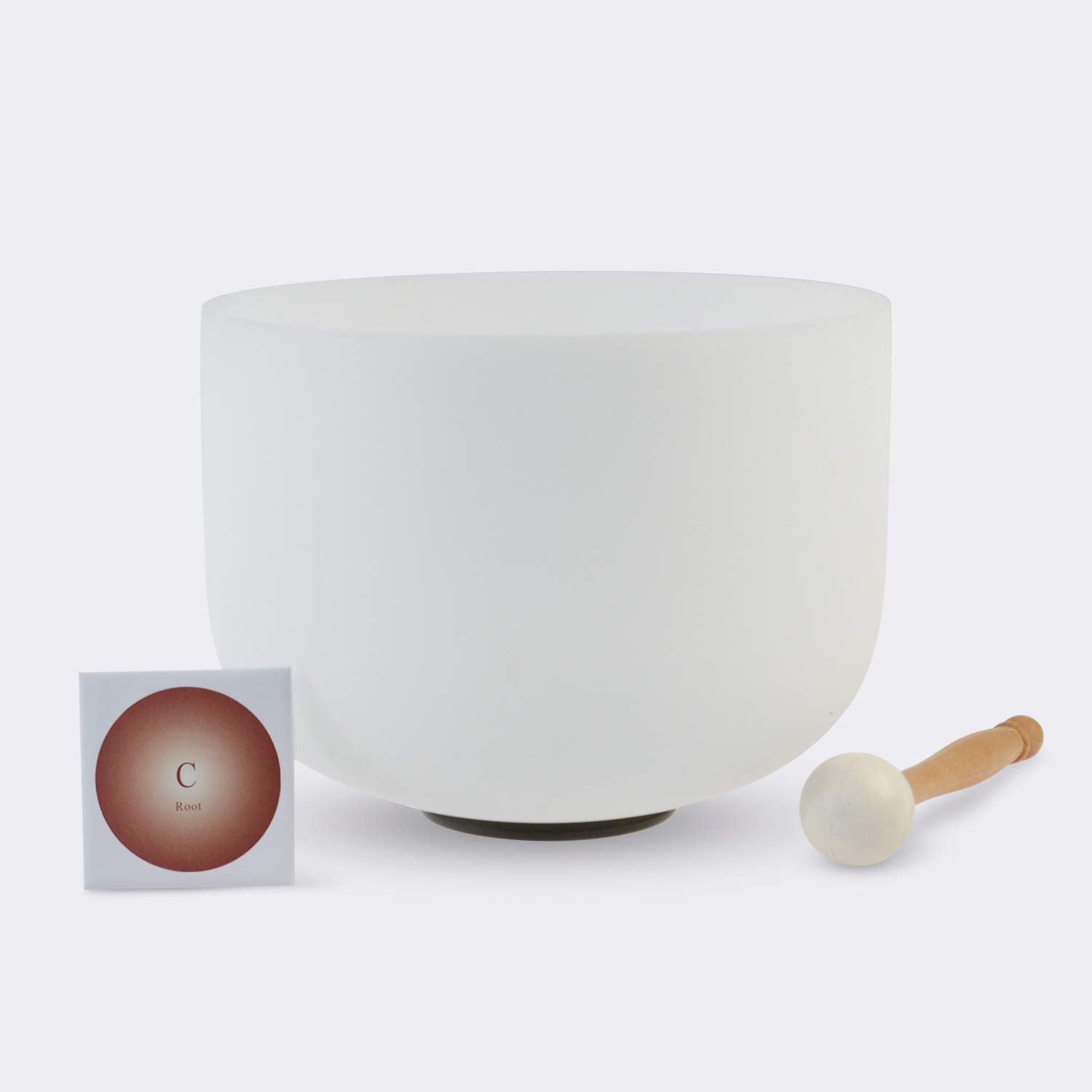 TOPFUND Singing Bowls C Note Crystal Singing Bowl Root Chakra 10 inch (O ring and rubber mallet Included)