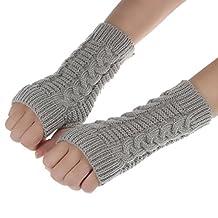 Tenworld Winter Gift Men Women Knitted Arm Fingerless Gloves Soft Warm Mittens