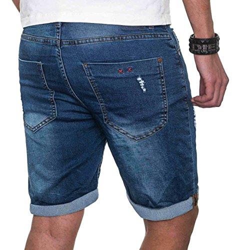 Herren Kurze Jeans Sublevel Sweathose Mix Slim B212 Slang Bermuda Short Sommer ftdAcAaq