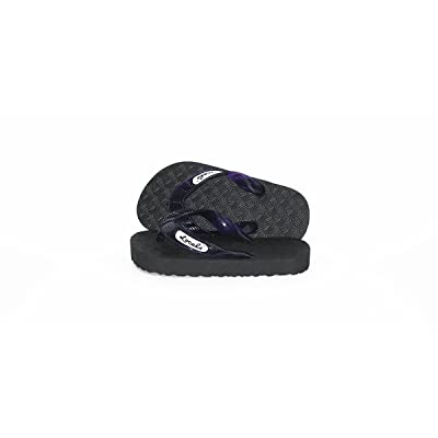 4b49967b84a5 Locals Kids Black with Purple Strap Slipper  5KvYY0911935  -  17.99
