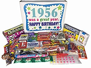 61st Birthday Gift Box of Retro Candy from Childhood for Men and Women Born in 1956