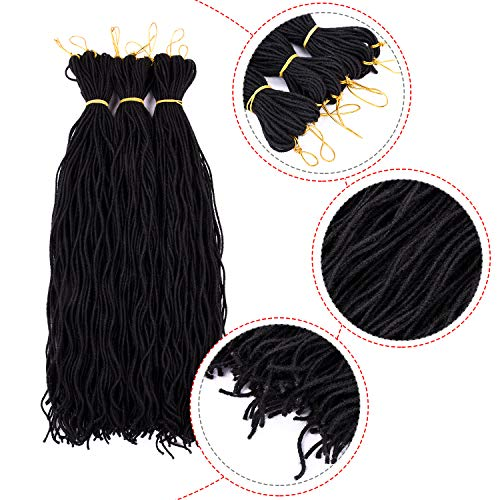 Silike Micro Curly Sister Lock Crochet Braids 20 Inch (30 Roots/Bundle,9 Bundles) Curly Faux Locs Soft Hair Mini Locs Curly Twist Braids For Beauty (1B) ()