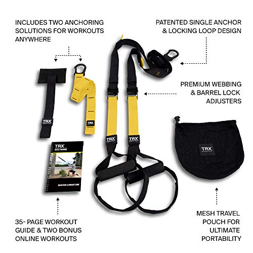 TRX ALL-IN-ONE Suspension Training: Bodyweight Resistance System | Full Body Workouts for Home, Travel, and Outdoors | Build Muscle, Burn Fat, Improve Cardio | Free Workouts Included