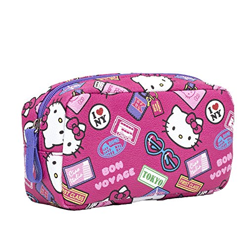 """Official Brand New Sanrio Hello Kitty """"Bon Voyage"""" Cosmetic Pouch- One Size"""