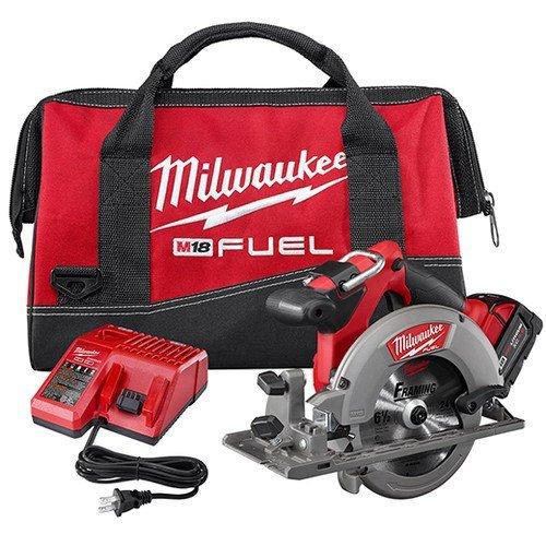 M18 Cordless Circular Saws (Milwaukee 2730-21 M18 Fuel 6 1/2 Circ Saw 1 Bat Kit)