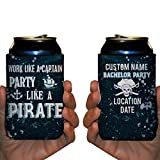 Custom Bachelor Party Can Cooler- Work Like A Captain, Party Like A Pirate (50)