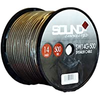 SoundBox Connected 14 Gauge 500' Speaker Wire 14 Ga Clear Home/Car 500 Ft. Speaker Cable Spool