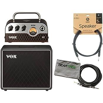 vox mv50 ac amp head and bc112 1x12 speaker cabinet w speaker cable instrument. Black Bedroom Furniture Sets. Home Design Ideas