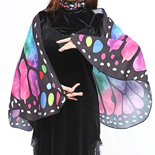 Halloween Party Prop Soft Fabric Butterfly Wings Shawl Fairy Nymph Pixie Costume(AQ,one Size) -